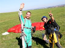 Tandemsprung bei Pullout Skydive