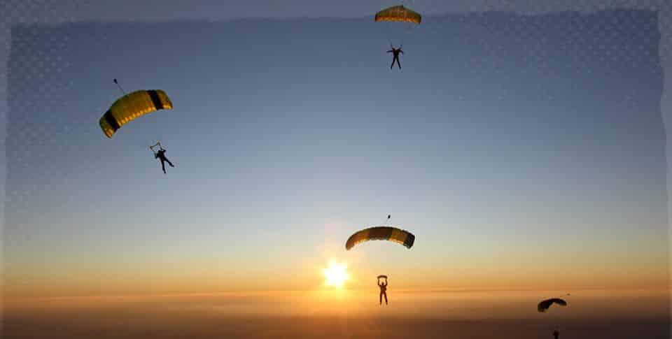 Fallschirmspringen über Hessen